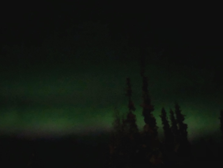 The Northern Lights from our porch, about two weeks ago.